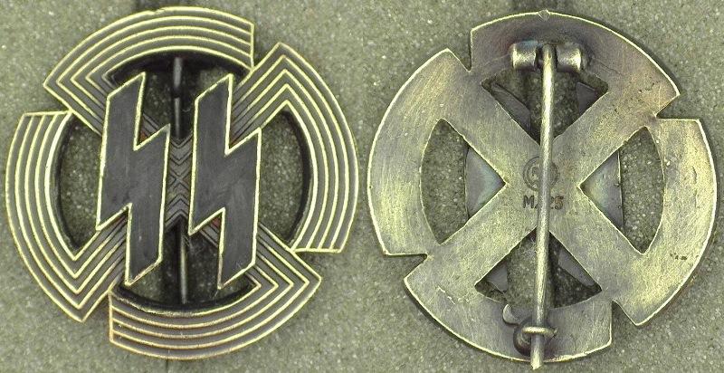 Wwii German Waffen Ss Proficiency Runedutch Sports Badge In Bronze