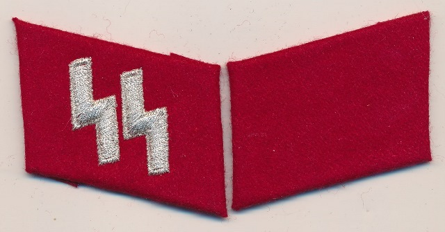 Italian SS 29th division officers collar tab set
