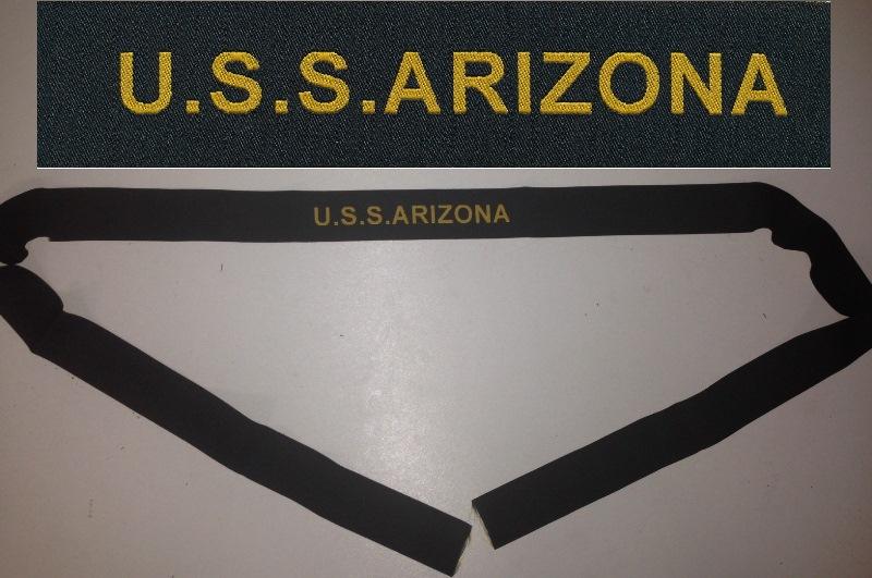 3e96574f814 USS ARIZONA tally WWII BB-39 battleship US Navy donald duck cap ...
